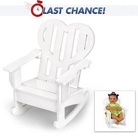 Heart Rocking Chair Doll Accessory