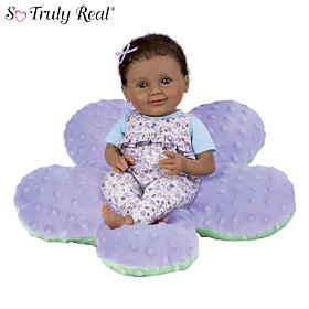 Brianna Baby Doll And Purple Pillow Set