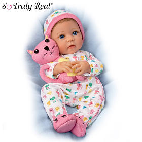 Kacey Baby Doll And Plush Kitty Set