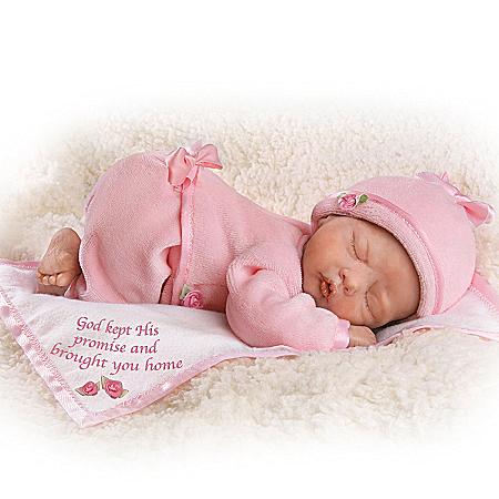 God's Tiny Miracles Lifelike Newborn Baby