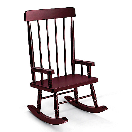 Beautifully Handcrafted Wood Rocking Chair Baby Doll Accessory