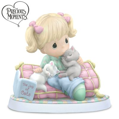 Precious Moments Figurine Celebrates The Joy Of Cats by