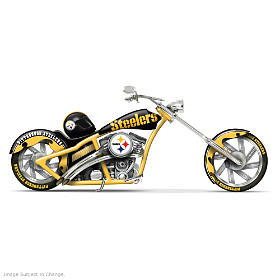 Black & Gold Chopper Figurine