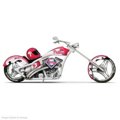 Phillies Home Run Racer Motorcycle Figurine by