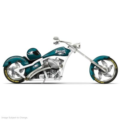 Philadelphia Eagles Chopper With Custom Paint Scheme by