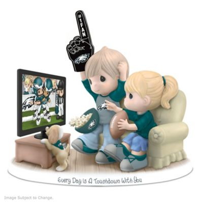 Precious Moments Philadelphia Eagles Fan Porcelain Figurine by