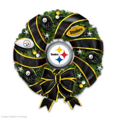 NFL-Licensed Pittsburgh Steelers Christmas Wreath by