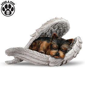 Yorkies Leave Paw Prints On Our Hearts Figurine