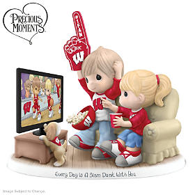 Every Day Is A Slam Dunk With You Wisconsin Badgers Figurine