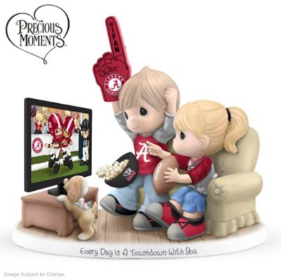 Alabama Crimson Tide Home Decor Precious Moments Every Day Is A Touchdown With You Figurine