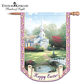 Thomas Kinkade Happy Easter Flag