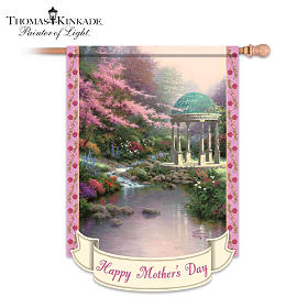 Thomas Kinkade Happy Mother's Day Flag