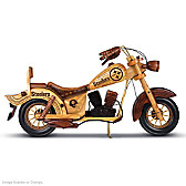 Pittsburgh Steelers Wooden Motorcycle Sculpture