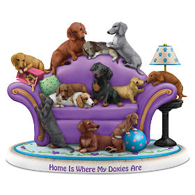 Home Is Where My Doxies Are Figurine