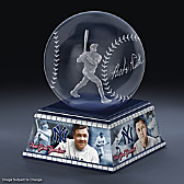 Babe Ruth Laser-Etched Glass Sculpture