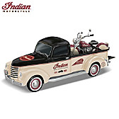Classic Cruisers Indian Motorcycle And Truck Sculpture