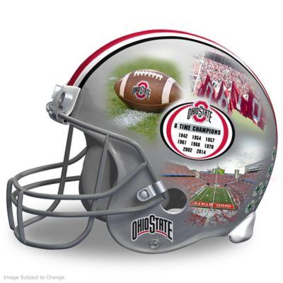 Ohio State Buckeyes Collage Football Helmet Sculpture by
