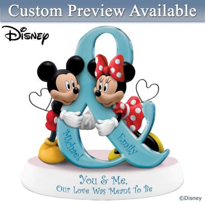 Click here to buy Disney Mickey Mouse And Minnie Mouse Personalized Figurine.