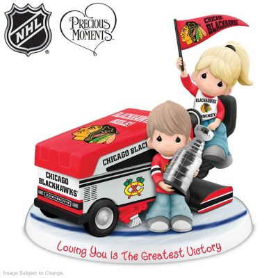 Precious Moments Blackhawks® Couple Figurine by