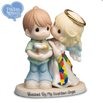Precious Moments Autism Awareness Guardian Angel Figurine by