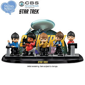 Precious Moments STAR TREK To Boldly Go Figurine Set