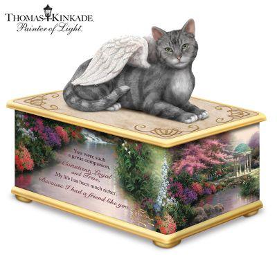 Thomas Kinkade My Forever Friend Cat Memorial Keepsake Box by