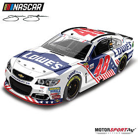 Jimmie Johnson No. 48 Lowe's Patriotic 2017 Diecast Car