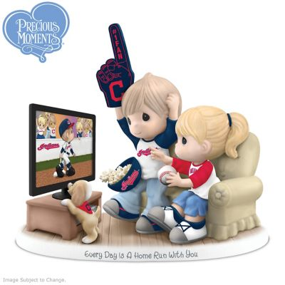 Precious Moments Cleveland Indians Fan Porcelain Figurine by