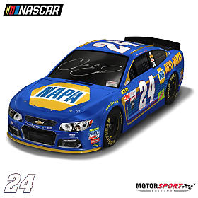 Chase Elliott Autographed 2017 NAPA Chevy SS Car Sculpture