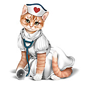 Nurses Are Su-Purr Heroes Figurine