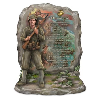 U.S.M.C. Rifleman's Creed Sculpture With James Griffin Art by