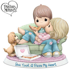 Precious Moments You Took A Pizza My Heart Figurine