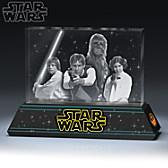STAR WARS Rebel Alliance Laser-Etched Glass Sculpture
