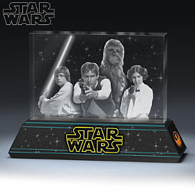 STAR WARS Rebel Alliance Laser-Etched Glass Sculpture