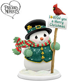 Precious Moments I-RISH You A Merry Christmas Figurine