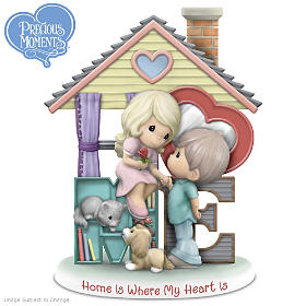 Precious Moments Home Is Where My Heart Is Figurine