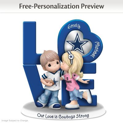 Precious Moments Cowboys Personalized Couple Figurine by