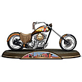 John Wayne American Legend Tribute Motorcycle Sculpture