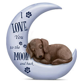 I Love You To The Moon And Back Dachshund Figurine