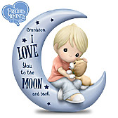 Grandson, I Love You To The Moon And Back Figurine