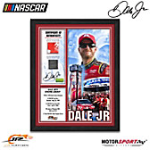 Dale Jr. Autographed Racing Moments Wall Decor