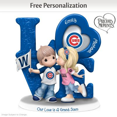 Precious Moments Cubs Personalized Couple Figurine by
