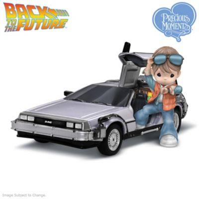 precious moments back to the future marty mcfly figurine. Black Bedroom Furniture Sets. Home Design Ideas