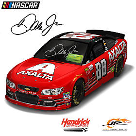 Dale Earnhardt Jr. Autographed 2017 Axalta Car Sculpture
