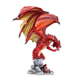 Attacking Dragon Figurine