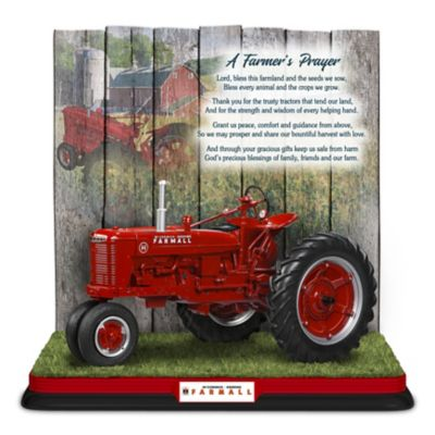 Farmall A Farmers Prayer Hand Painted Sculpture
