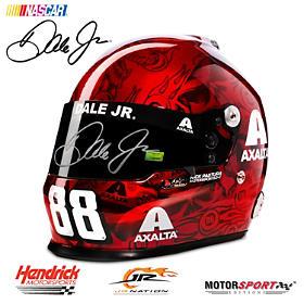 #88 Dale Earnhardt Jr. Autographed 2017 Skull Racing Helmet