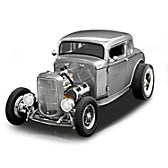 1932 Ford 5-Window Hammered-Steel Deuce Coupe Diecast Car