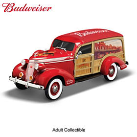 King Of Cool Budweiser Woody Wagon Sculpture