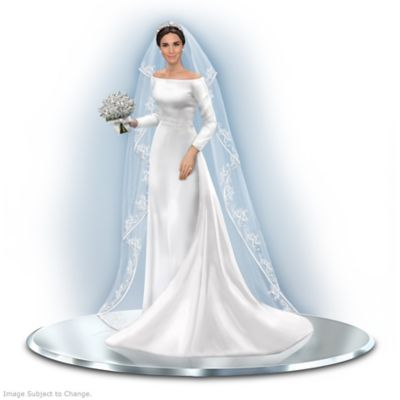 Meghan Markle Royal Bride Figurine With 8 Swarovski Crystals by